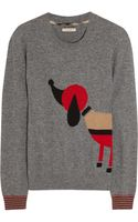 Burberry Brit Dogintarsia Wool and Cashmereblend Sweater - Lyst