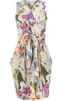 Sodamix Floral Print Tie Dress - Lyst
