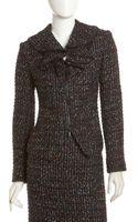 Lafayette 148 New York Cambria Tweed Zip Jacket Blackmulticolor - Lyst