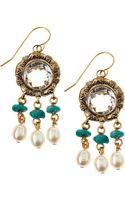 Stephen Dweck Crystal Turquoise Pearl Drop Earrings - Lyst