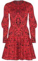 Alexander McQueen Intarsia Knit Dress - Lyst