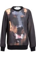 Givenchy Abstract Doberman Printed Cotton Sweatshirt - Lyst