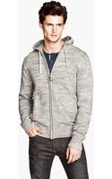 H&M Fine Knit Hooded Jacket - Lyst