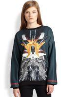 Clover Canyon Printed Neoprene Sweatshirt - Lyst