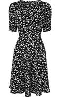 Boutique By Jaeger Fold Neck Bird Print Dress - Lyst