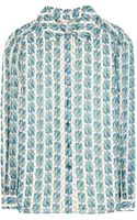 Tory Burch Kerry Print Silk Blouse - Lyst