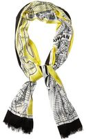 Kate Spade New York Map Scarf - Lyst