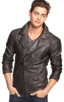 Guess Jacket Faux Leather Moto - Lyst