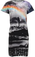 Mary Katrantzou Short Sleeve Rainbow Shift Dress - Lyst