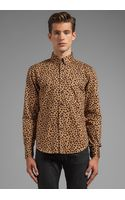 Naked & Famous Regular Shirt Leopard Print in Brown - Lyst