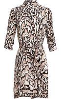 Diane Von Furstenberg Prita Leopard Printed Silk Shirt Dress - Lyst
