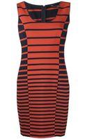 Halston Heritage Stripe Tank Dress - Lyst