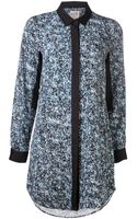 Sea Floral Shirt Dress - Lyst