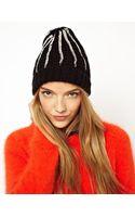 Asos Asos Foil Stripe Knit Beanie - Lyst