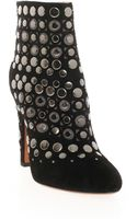 Alaïa Studded Suede Ankle Boots - Lyst