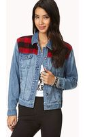 Forever 21 Denim Darling Distressed Jacket - Lyst