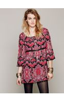 Free People Printed Square Neck Tunic - Lyst