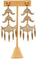 Theodora & Callum Brass Navajo Earrings - Lyst