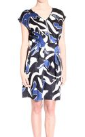 Iceberg Dress Sleeveless V Neck Printed Silk - Lyst