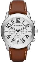 Michael Kors Oversize Brown Leather Mercer Chronograph Watch - Lyst