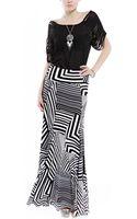 Akira Black Label Graphic Knit Maxi Skirt - Lyst