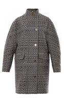 Balenciaga Cristobal Layered Tweed Coat - Lyst