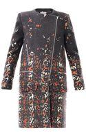 Preen By Thorton Bregazzi Wixon Tartan Leopardprint Coat - Lyst
