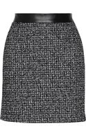 Proenza Schouler Leather Trimmed Tweed Mini Skirt - Lyst