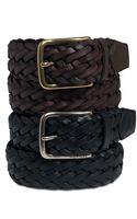Tommy Hilfiger Braided Leather - Lyst