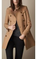 Burberry Double Wool Twill Trench Coat - Lyst