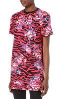 McQ by Alexander McQueen Printed Tshirt Dress - Lyst