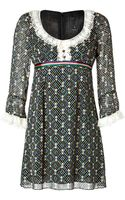 Anna Sui Dress in Black Multi - Lyst