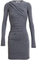 T By Alexander Wang Stretch Jersey Ruched Dress - Lyst
