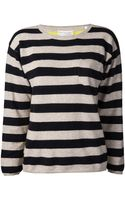 Chinti & Parker Chinti and Parker Sailor Stripe Pocket Sweater - Lyst