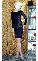 Alice + Olivia Tatum Sheer Back Fitted Dress - Lyst