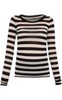 Enza Costa Cashmere Stripe Sweater - Lyst
