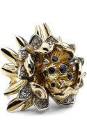 Roberto Cavalli Flower Ring with Swarovski Crystals - Lyst