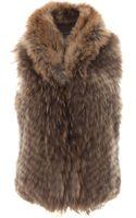 Scoop Raccoon Fur Vest - Lyst