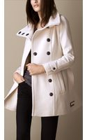 Burberry Wool Cashmere Blanket Wrap Coat - Lyst