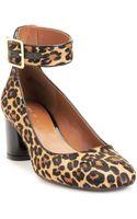 Nine West Servina Ankle Strap Mid Heel Pumps - Lyst