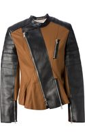 3.1 Phillip Lim Colour Block Biker Jacket - Lyst