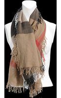 Burberry Colour Check Silk Scarf 120x120 - Lyst