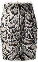 Christopher Kane Leopard Print Skirt - Lyst
