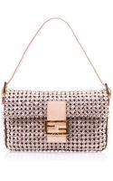 Fendi Crystal Embellished Baguette Bag - Lyst