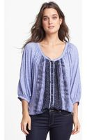 Free People Days Of Romance Peasant Top - Lyst