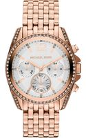 Michael Kors Pressley Rose Goldtoned Chronograph Watch White - Lyst
