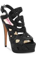 Betsey Johnson Blairre Platform Evening Sandals - Lyst