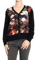 Frankie Morello Sweater Cardigan Flowers Pattern - Lyst