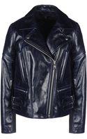 Victoria Beckham Joan Leather Moto Jacket - Lyst