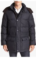 Vince Camuto Quilted Hooded Anorak - Lyst